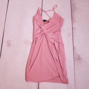 Dynamite Blush Pink Twist Spaghetti Strap Dress